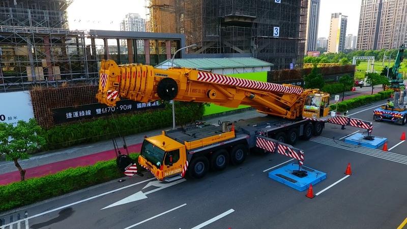 必捷吊車LIEBHERR LTM1500-8.1塔吊拆除作業