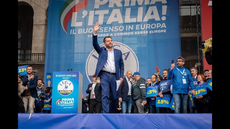 INTERVENTO DI MATTEO SALVINI IN PIAZZA DUOMO (MILANO, 18.05.2019)