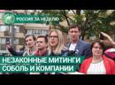 Незаконные митинги Соболь и других сторонников Навального. Россия за неделю. ФАН-ТВ