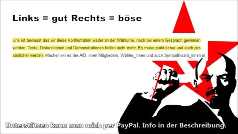 Fight AfD - Aufruf zu Straftaten- Demokratiefeinde in Aktion - HD