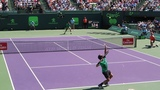 Roger Federer v. Juan Martin Del Potro (Court Level View) Miami Open 2017 R3
