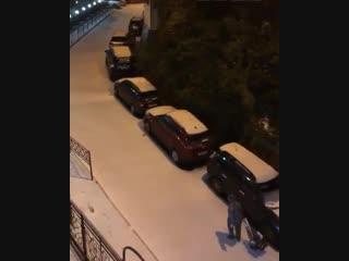 Вот такое сегодня, доброе утро! Сочи 14.12.2018 Выпал снег в Сочи.
