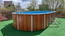 Каркасный бассейн на крыше дома. Монтаж Эсприт-Биг 7.3х3.7х1.35 на дачной крыше своими руками!