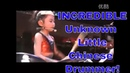 Incredible Unknown Little Chinese Girl Plays Killer Drums Parts 2 1 with Vocals