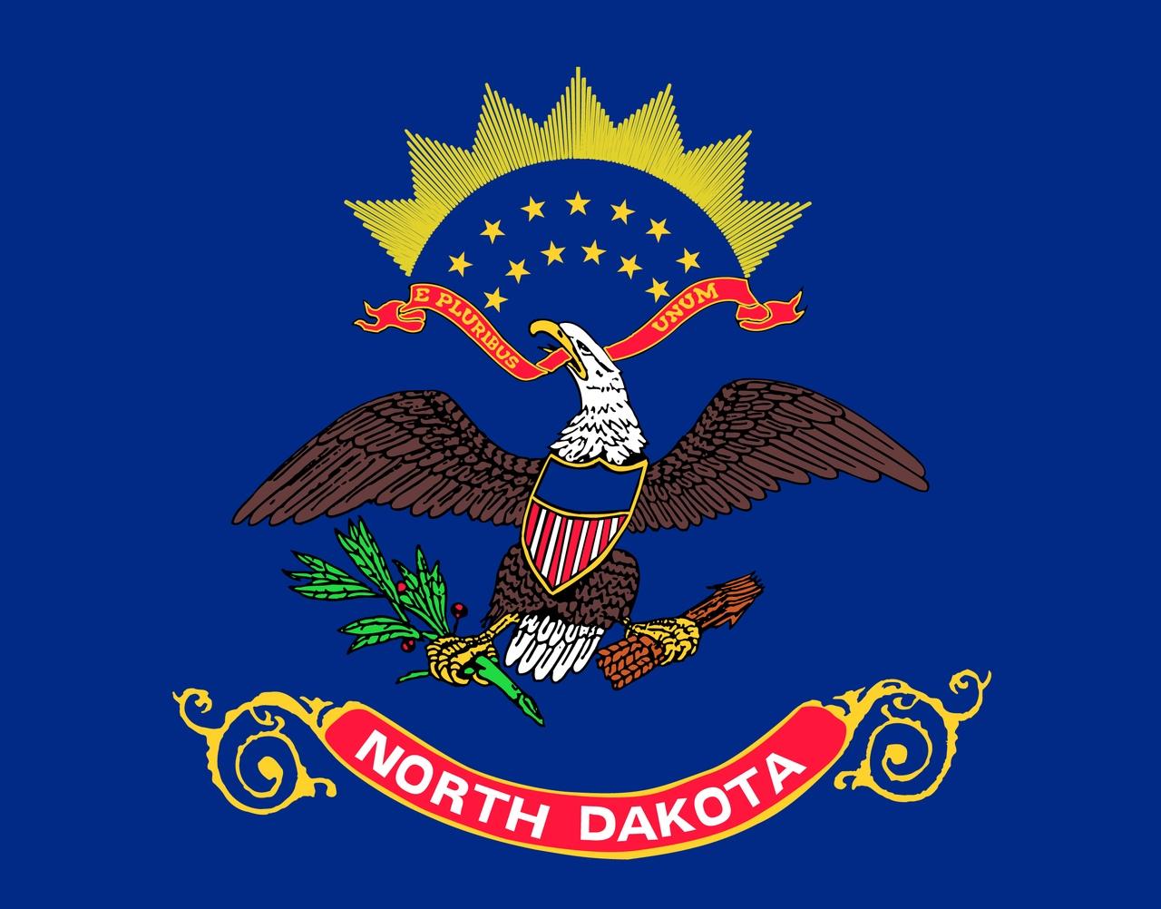 Флаг Северная Дакота