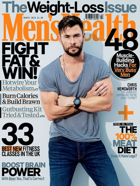 Крис Хемсворт Mens Health, Март 2019