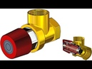 SolidWorks Tutorial 313 Relief valve PRV movable spring screw distance mate