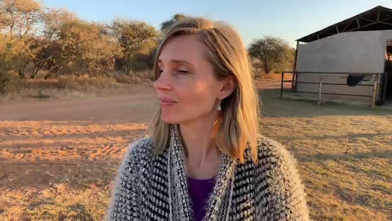 Алина и лошадка. Лимпопо, ЮАР