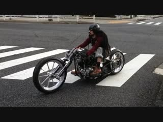 Custom made barracuda shovelhead