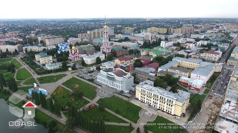 Тамбов (Аэросъемка набережной реки Цна) Tambov (Aerial view the seafront of the river Tsna)