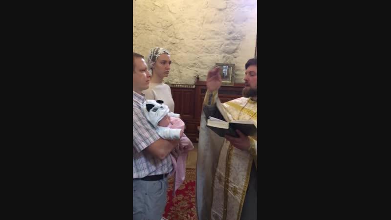 крестят Таю