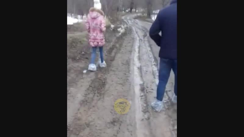 Дорога в Северном Ставропольского края