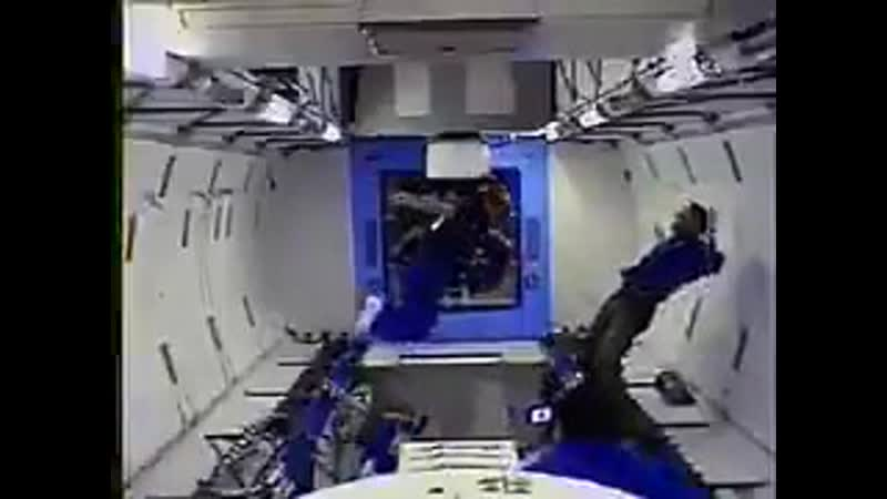 An astronaut can get stuck in position if they are not near anything to grab onto, it also requires a lot of effort to get out o