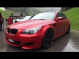 BMW M5 E60 in special Red Paint Color