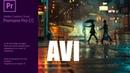 Adobe Premiere Pro CC 2018   AVI без сжатия