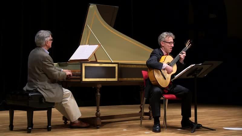 1016 J. S. Bach - Violin Sonata in E major, BWV 1016 - John Gibbons, harpsichord Eliot Fisk, guitar