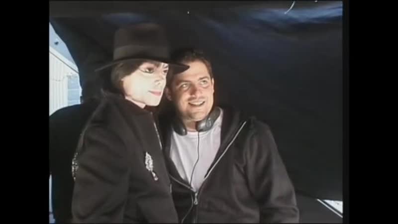 Michael Jackson with Brett Ratner at Red Dragon Set
