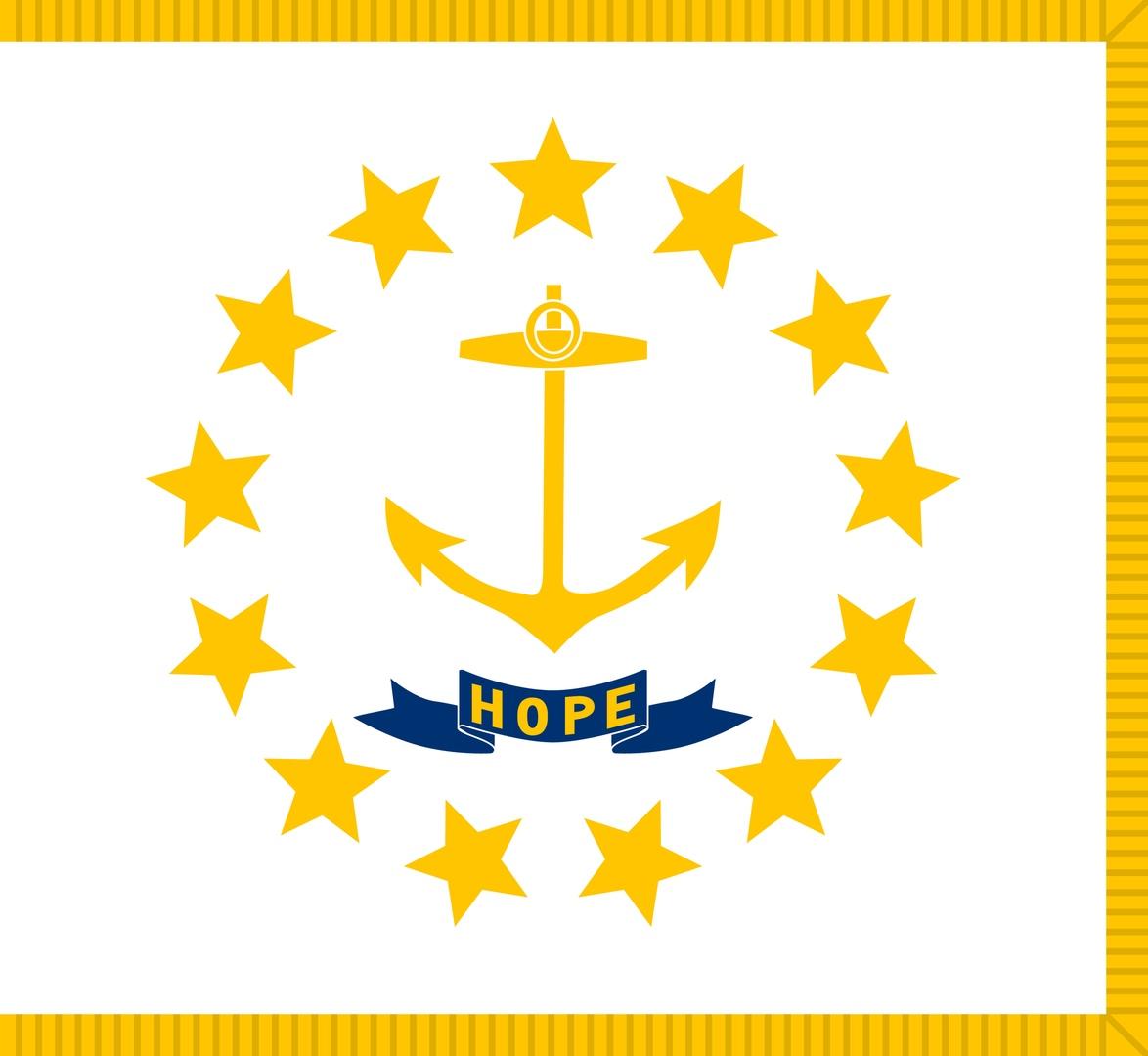 Флаг Род-Айленд