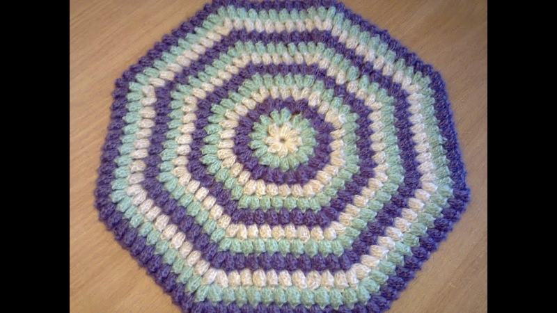 Как вязать узор попкорн крючком. How to Knit pattern popcorn hook.