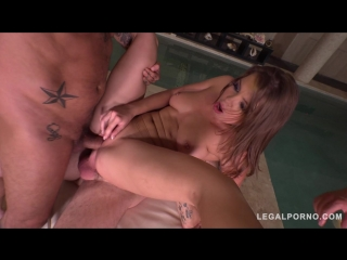 [LegalPorno] Renata Fox Intensely Fucked by 3 in Extreme airtight DP [2018, A2M, Lingerie, DP, Anal, Gape, Gangbang, Toys, 720p]