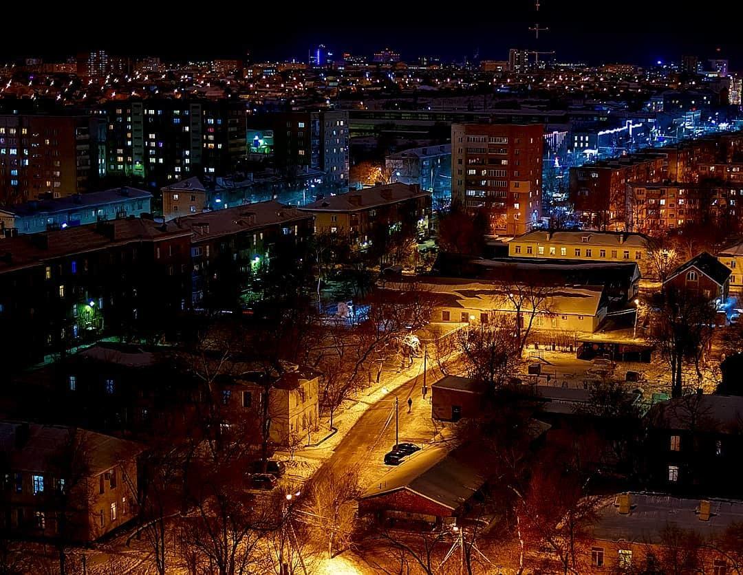 Фото ночного оренбурга