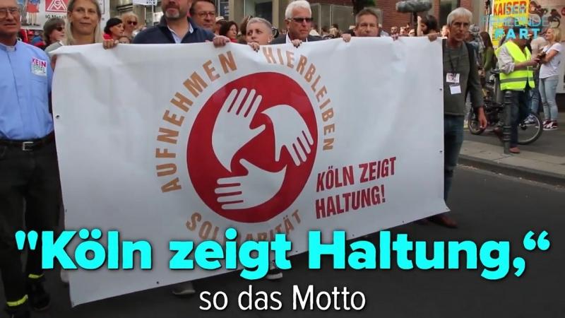 Köln zeigt Haltung Tausende auf Demo für Flüchtlingssolidarität