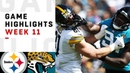 Steelers vs. Jaguars Week 11 Highlights NFL
