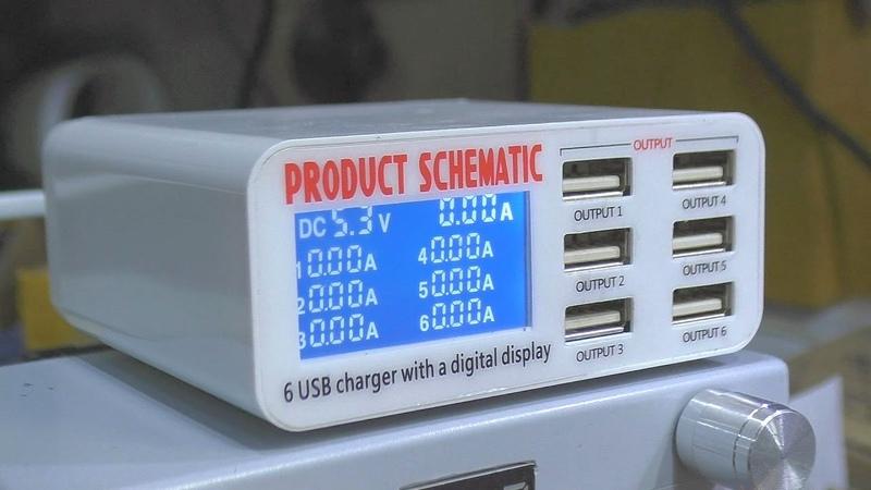 Посылочка из Китая. Зарядное на 6 USB-портов (6А версия)
