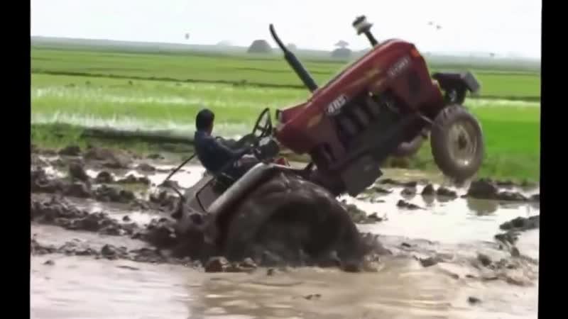 Безбашенные индусы трактористы. Перегруз
