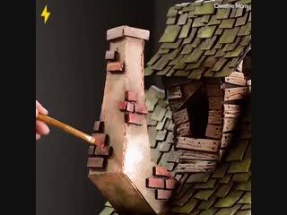 Классная работа - дом из картона - vk.com/bg.remont