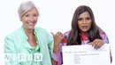 Mindy Kaling Emma Thompson Answer the Web's Most Searched Questions | WIRED