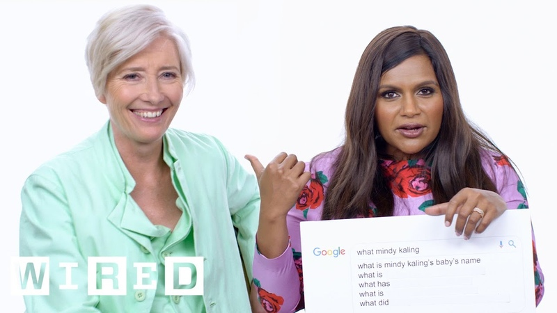 Mindy Kaling Emma Thompson Answer the Web's Most Searched Questions   WIRED