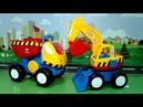 видео с игрушечными машинками - Экскаватор Декстер спешит на помощь.
