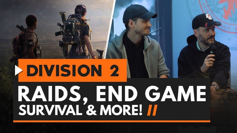 The Division 2 Interview | Raids, End Game, Survival More w/ Julian Gerighty Mathias Karlson