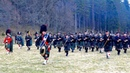 Massed Pipes and Drums of the Scottish highlands gather in Deeside for first parade of 2018