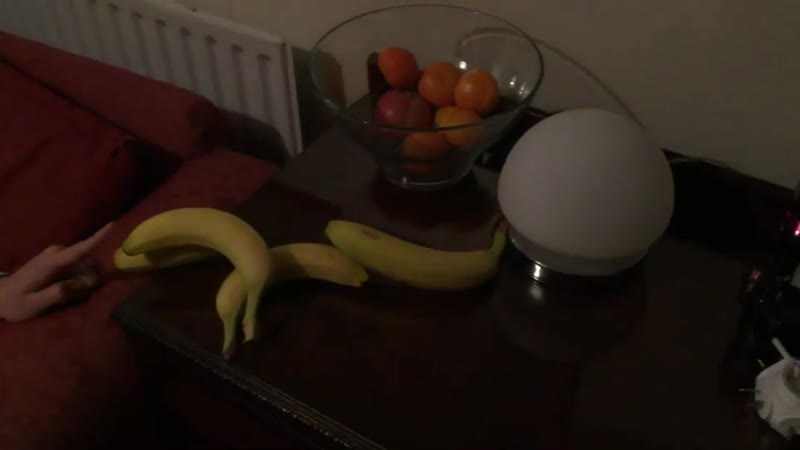 Use bananas to activate a touch-sensitive lamp (xpost /r/gifs)