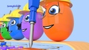 Learn Numbers with Surprise Eggs and Trucks Cartoons for children