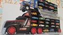 Arranging toy Cars in toy Trucks or Car Transporter Video for Kids