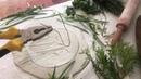 Spring Plaster Flowers Tutorial/ Отпечатки растений. Мастер-класс. Гипс. Подснежники.