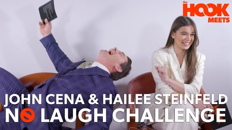 John Cena and Hailee Steinfeld Play The No Laugh Challenge | The Hook