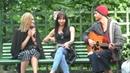 Бездомный Костя Битеев с Невероятным Голосом / Homeless Man Picks Up Girls Илья Рай