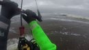 Кайт в шторм на Белом море