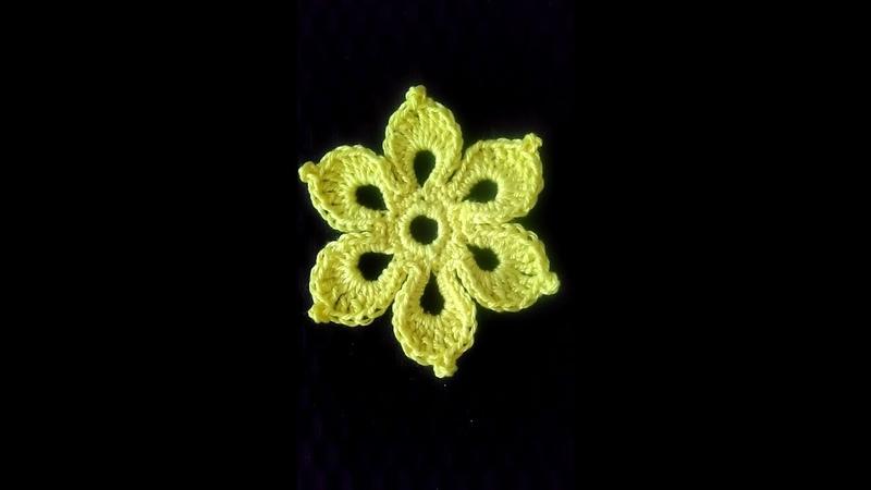 Урок 39 Цветок для ирландского кружева.Сияющий шестилистник.
