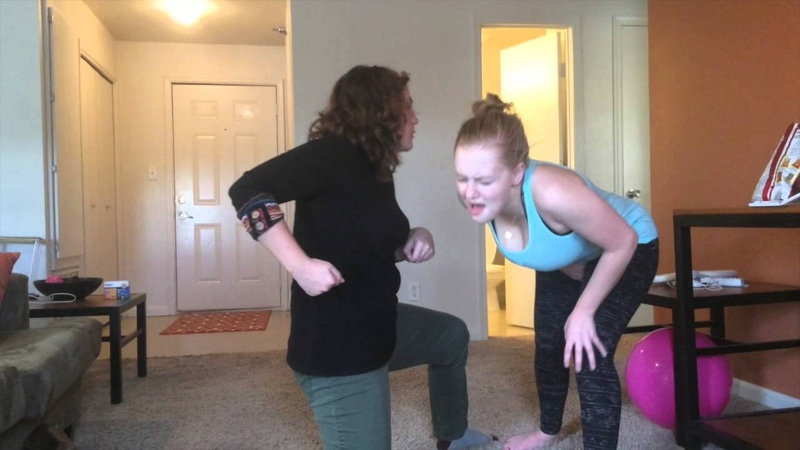 Stage Combat- Alex Forbes and Hannah Kipp