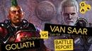Necromunda: Underhive. Battle Report. Van Saar vs Goliath.