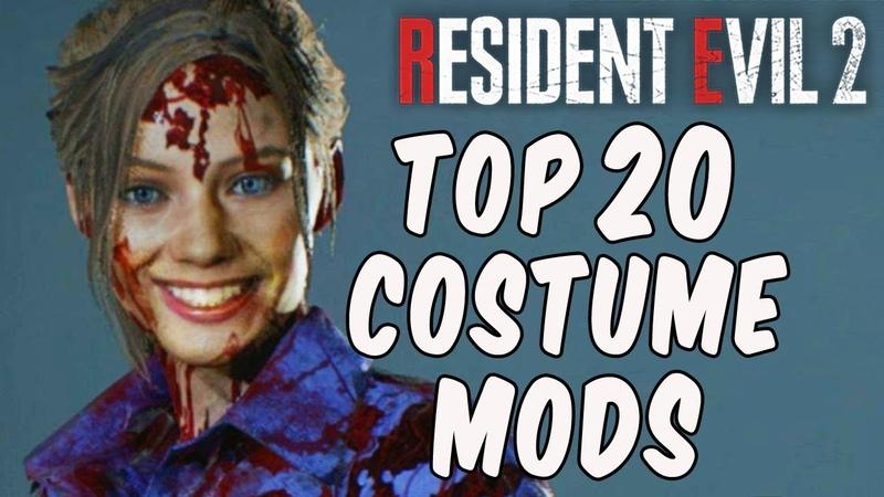 Resident Evil 2 TOP 20 COSTUME MODS!