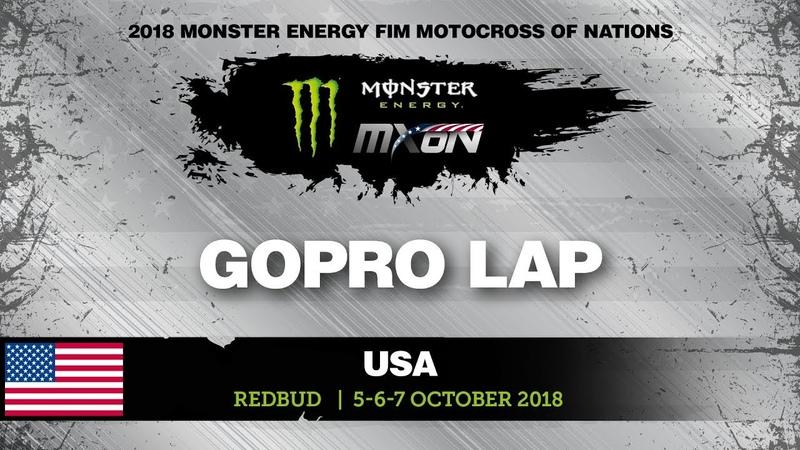 Travis Pastrana GoPro Backflip and Lap - Team Puerto Rico - Monster Energy FIM MXoN RedBud