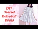 DIY Tiered Babydoll Dress / 手作教學 / Costura / Sewing Tutorialㅣmadebyaya
