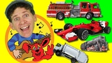 Learn About Vehicles Song for Kids Sing Along with Matt Learn English Kids