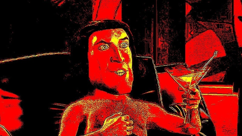 Shrek but only when Lord Farquaad says E